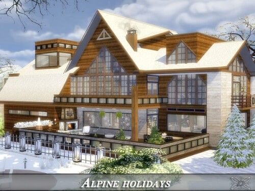 Alpine holidays house by Danuta720 for The Sims 4