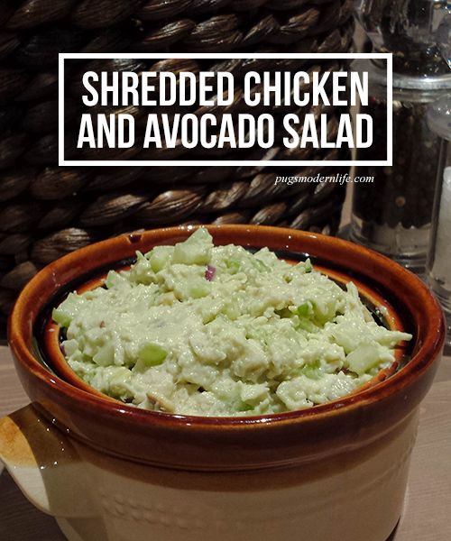 Shredded chicken and avocado salad