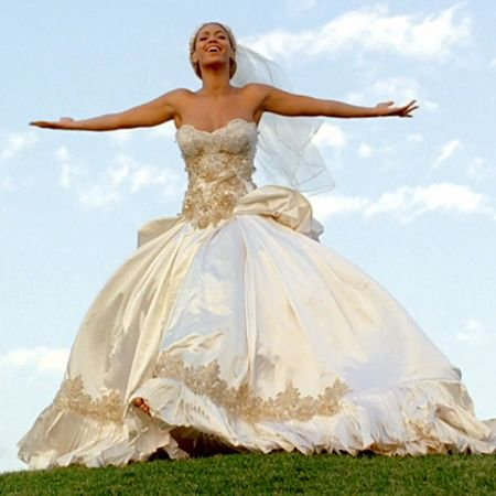 Fancy walking down the aisle in the dress worn by beyonc for Beyonce wedding dress pictures