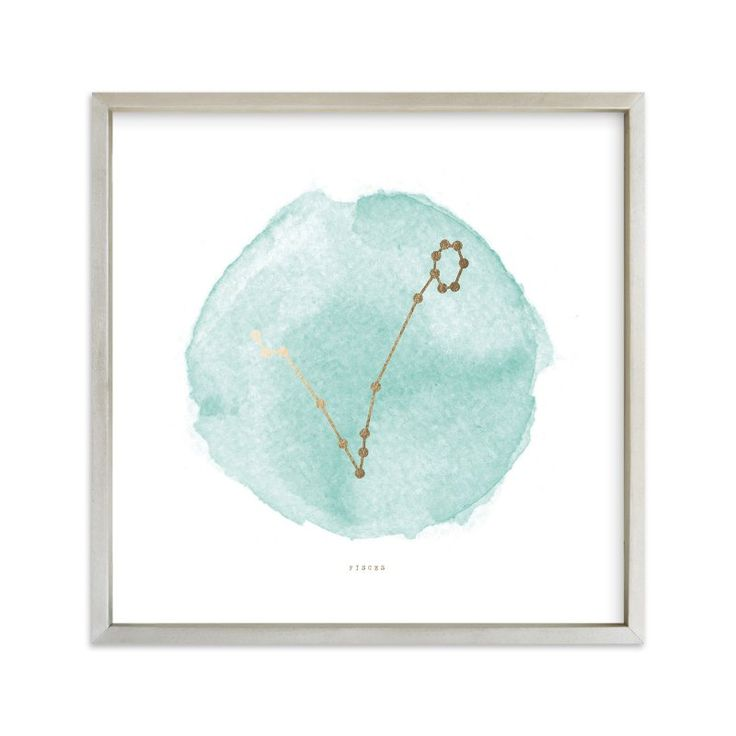 """""""Pisces"""" - Foil-pressed Art Print by annie clark in beautiful frame options and a variety of sizes."""