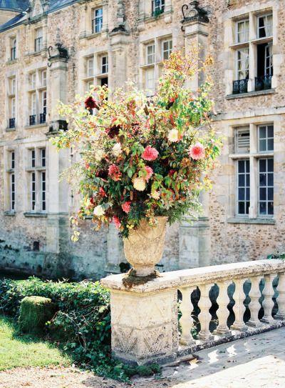Garden wedding flowers: http://www.stylemepretty.com/2013/03/21/french-countryside-wedding-from-beth-helmstetter-events/   Photography: Steve Steinhardt - http://stevesteinhardt.com/