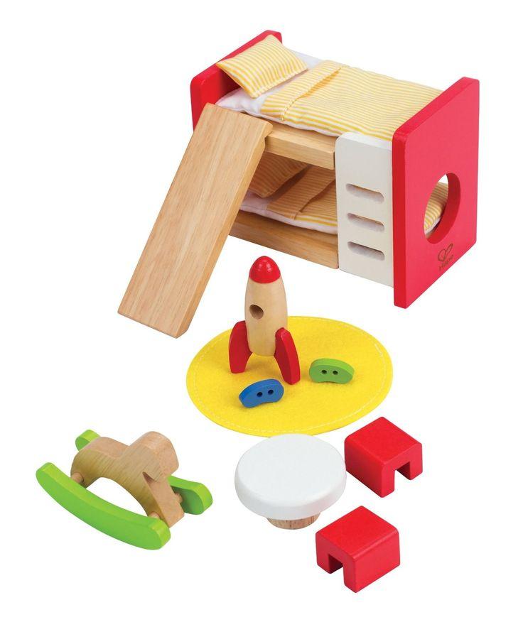 Hape - Children's Room Set Wooden Dolls Furniture
