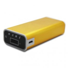 Taff Power Bank 5200mAh Model HAME-MP2 for Tablet and Smartphone ( MP2 ) - Yellow - Gudang Gadget Murah