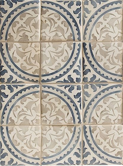 "Walker Zanger ""Duquesa"" tile - handpainted ceramic"