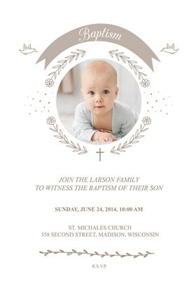"""""""Ribbon Cameo"""" printable invitation template. Customize, add text and photos. Print or download for free!"""