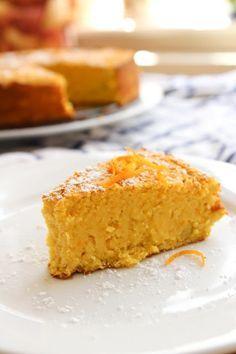 Grain Free Paleo Orange Cake using the entire orange peel and all