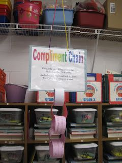 Savvy Second Graders: Compliment Chain & Warm Fuzzy Jar
