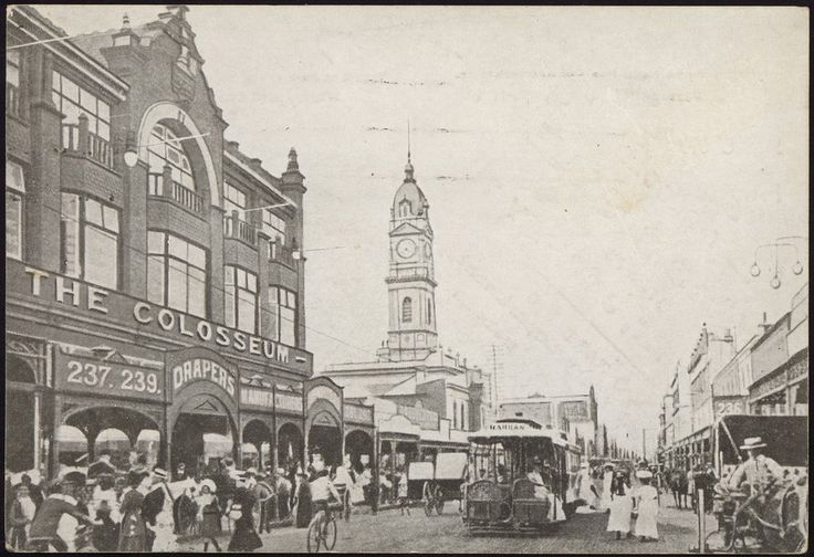 The Colosseum, Chapel Street, Prahran, 1910. Photograph from State Library Victoria.