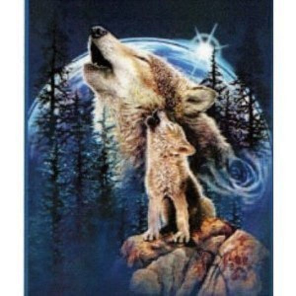 "NEW Queen Size Blanket ""Wolves"" Mink Plush Cozy Comfort Cover 79""x95"" Washable.. found on eBay and LOVE this..."