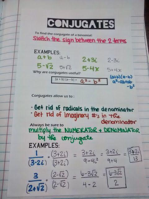 Conjugates INB Notes
