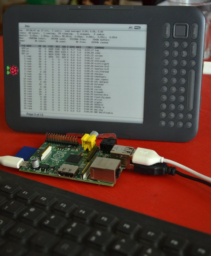 Using a Kindle and a Raspberry Pi as a minimal portable development platform