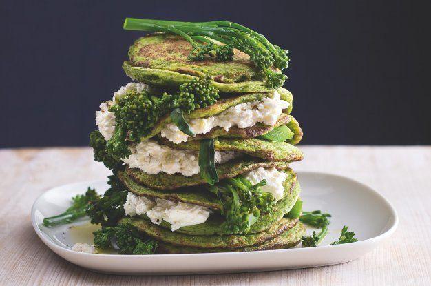 Lívanečky s čerstvým sýrem a brokolicí