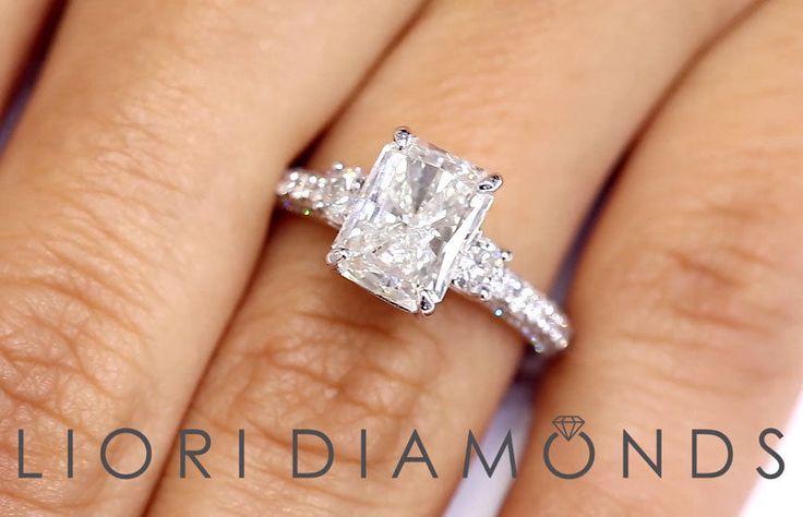 3.28 CTW EGL Certified Radiant Cut Diamond Engagement Ring ~ Watch LIVE Video ~  #LioriDiamonds #DiamondEngagementRing