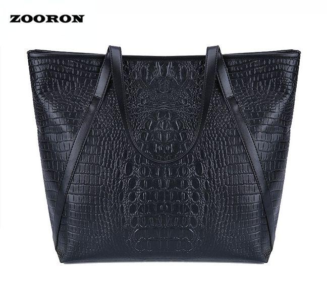 ZOORON Women Crocodile PU Leather Large Handbags Big Tote Bags for Ladies Women Single Shoulder Bags