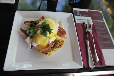 Eggs Benedict at Zai Restaurant, Port Douglas