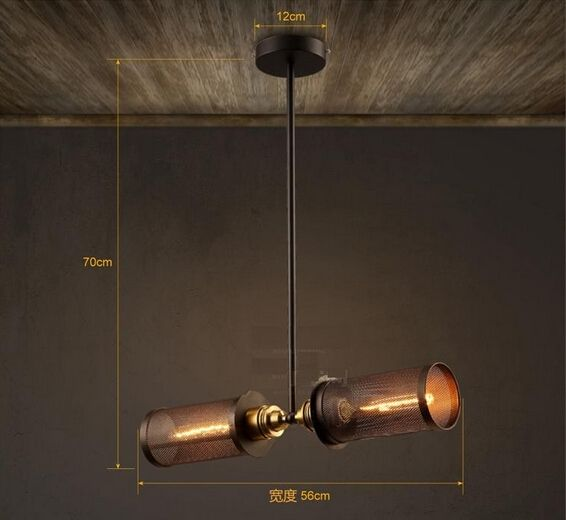 144.99$  Watch here - http://alifas.worldwells.pw/go.php?t=32598642144 - Network Rail Loft Style Iron Edison Pendant Lights Fixtures Vintage Industrial For Dining Room Bar Hanging Suspension Luminaire 144.99$