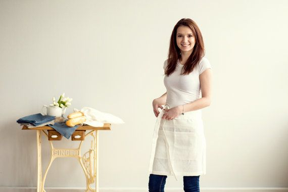 Hey, I found this really awesome Etsy listing at https://www.etsy.com/listing/225317956/ivory-linen-half-apron-chef-apron-100