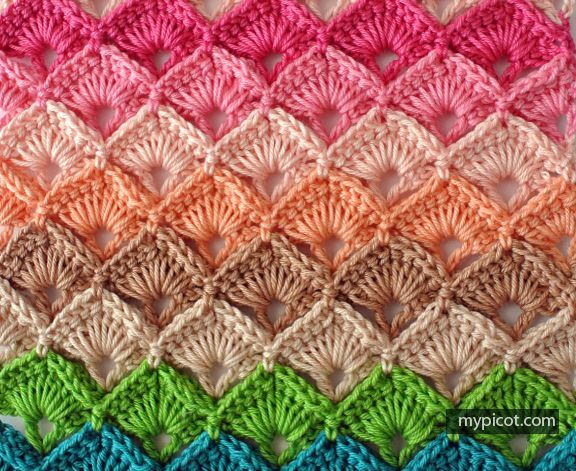 MyPicot | Free crochet patterns Box Stitch - Beautiful!