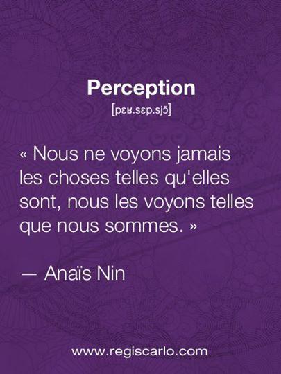Souvent on l'oublie et c'est comme ça que naisse la plus part des conflie chacun sa perception une n'est pas meilleur que l'autre