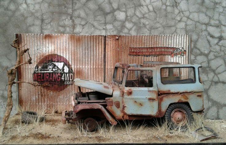 Fj40 junkyard diorama