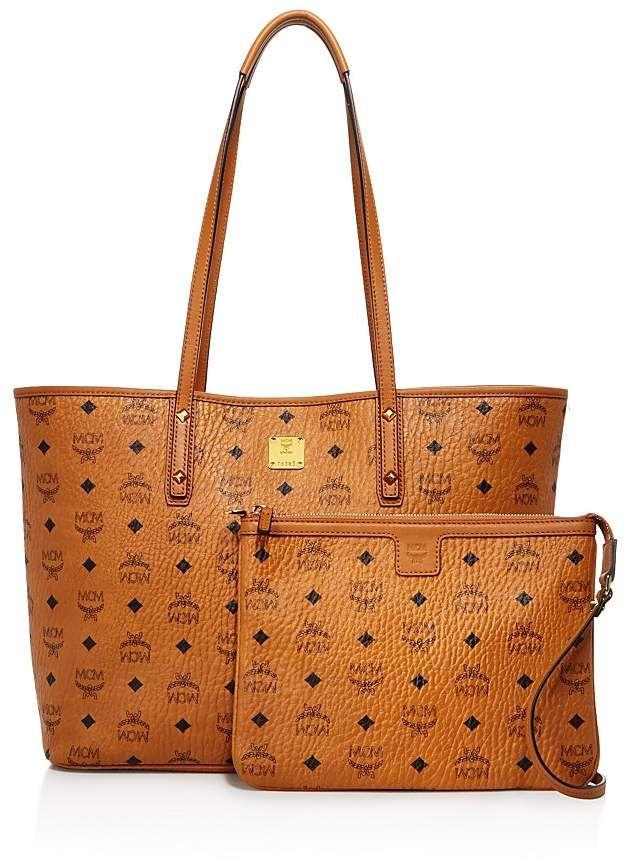MCM Anya Logo Zip Medium Shopper Tote. #bags #ad