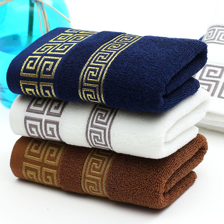 Bathroom Accessories 35*75cm Jacquard Cotton Terry Hand Towels Decorative Elegant Embroidered Bathroom Towels Face Hand Towels