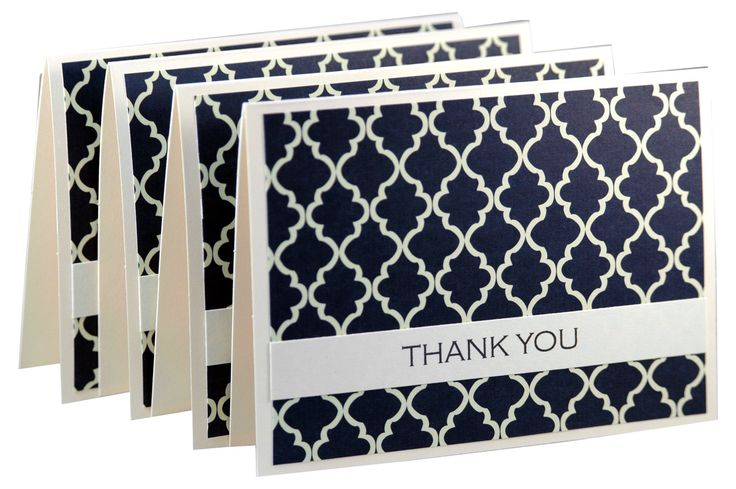 Simple thank you cards, modern thank you notes, handmade thank you card set, wedding thank you cards. $8.00, via Etsy.