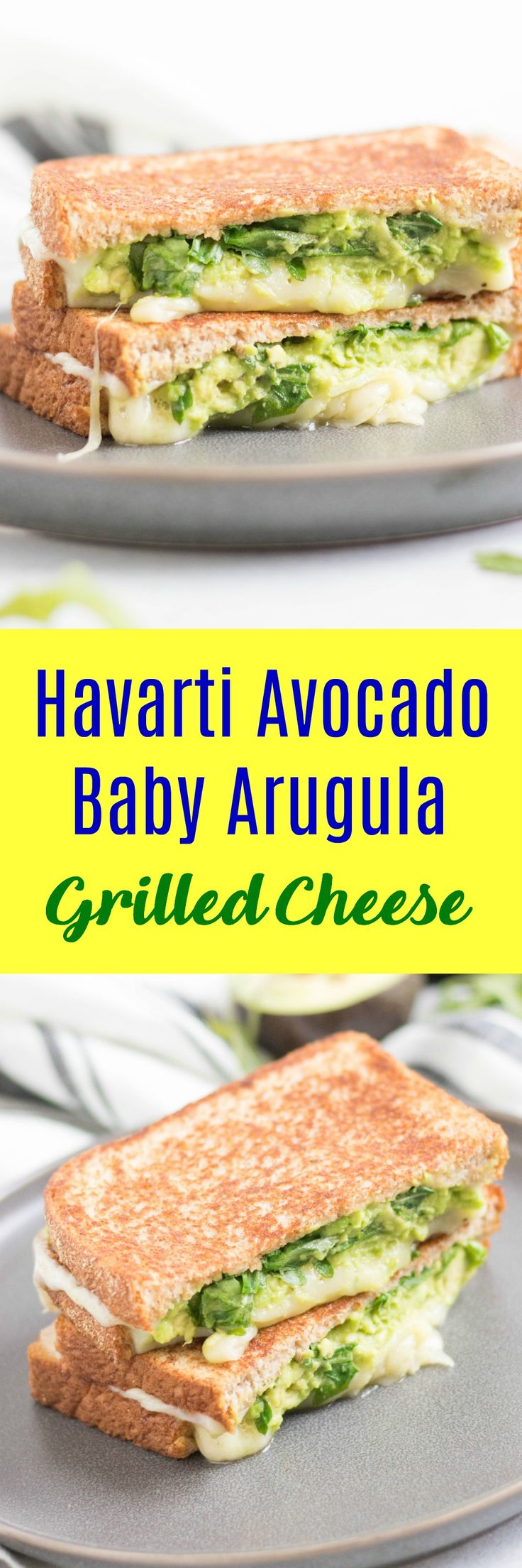 Havarti, Avocado, Baby Arugula Grilled Cheese
