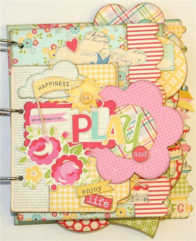 Pink Paisley's and Polka DotsMinis Book, Scrapbook Kits, Scrapbook Photos, Minis Album, Mini Albums, Scrappy Happy, Life Minis, Scrapbook Layout, Album Kits