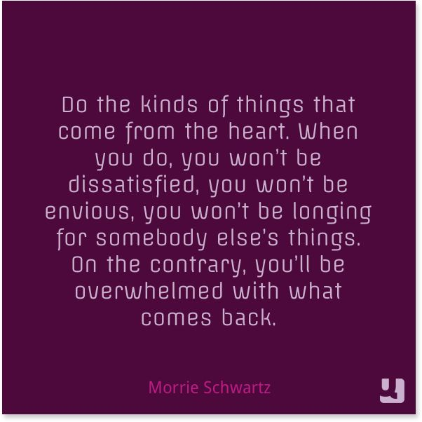 Morrie Schwartz - Come From the Heart
