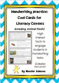 Amazing Animal Facts - Fun handwriting practice:  D'Nealia