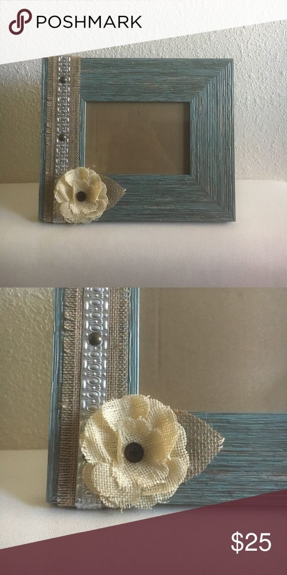 Rustic Blue Picture Frame 9x11 frame, fits 5x7 pictures Other