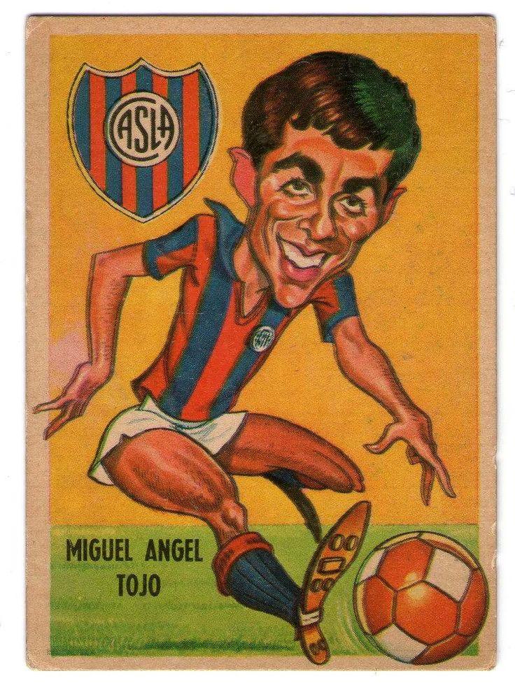figurita tarjeton futbol sport 1967 #81 Miguel Angel Tojo - San Lorenzo de Almagro