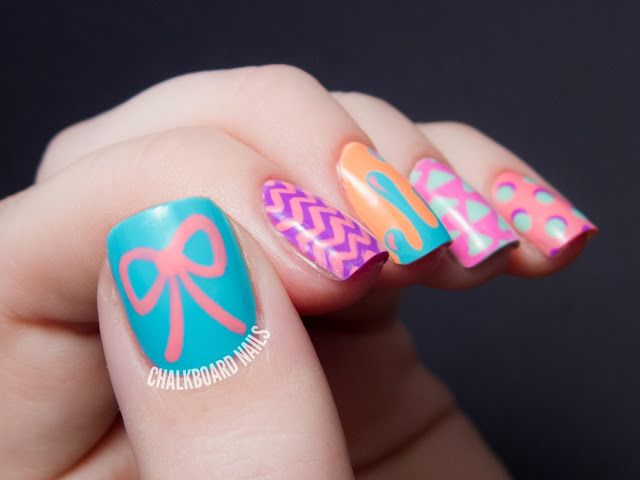 Hipster Mix and Match - China Glaze Sunsational Nail Art ...