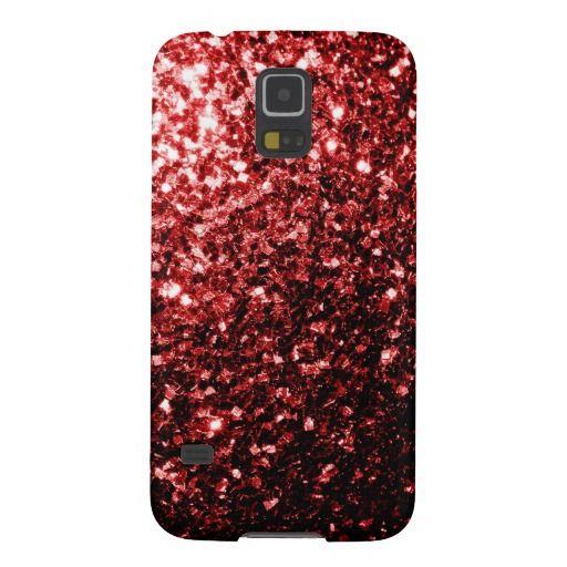 SOLD! #Beautiful #Red glitter #sparkles look Samsung Galaxy S5 case by #PLdesign #RedSparkles #SparklesGift #SamsungGS5