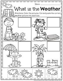 Preschool Weather Worksheets for February