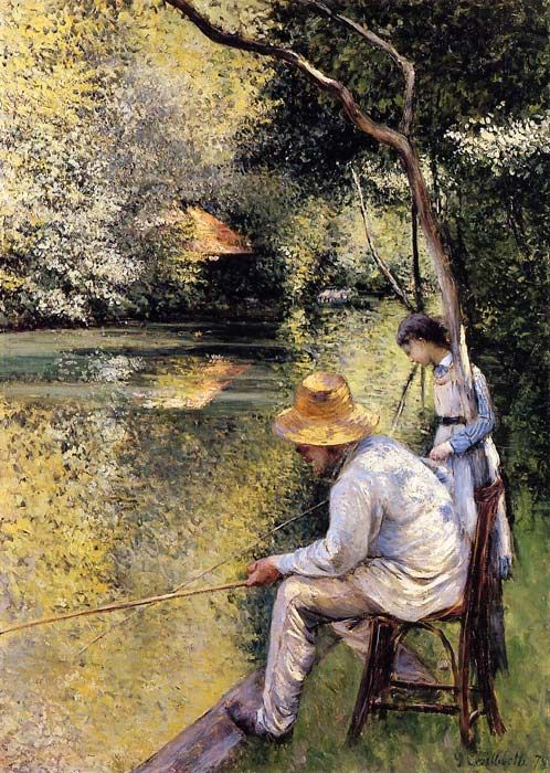 Paintings Reproductions Caillebotte, Gustave Fishing, 1878