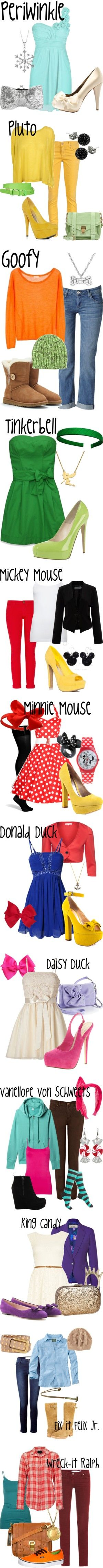 Disney Inspired Outfits...Goofy's is my favorite