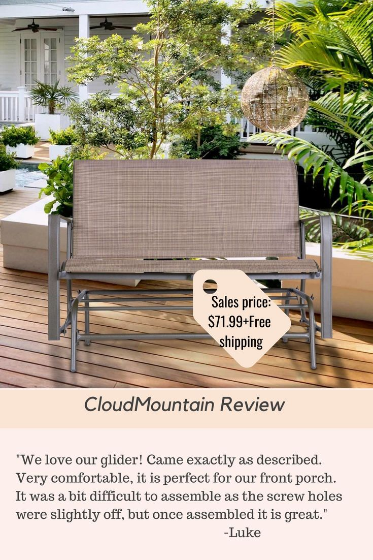 Outdoor patio loveseat rocking bench furniture swing rocker lounge pourch glider chair products reviews pinterest bench
