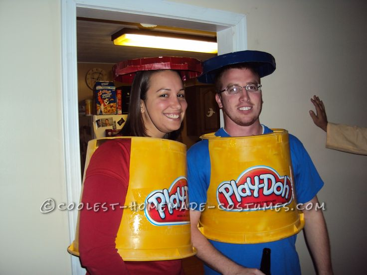 cheap and simple play doh couple costume diy couples halloween costumessimple - Cheapest Place To Buy Halloween Costumes