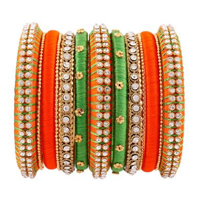 Exclusive Set of Silk thread Bangles | Buy Online jewellery | Elegant Fashion Wear