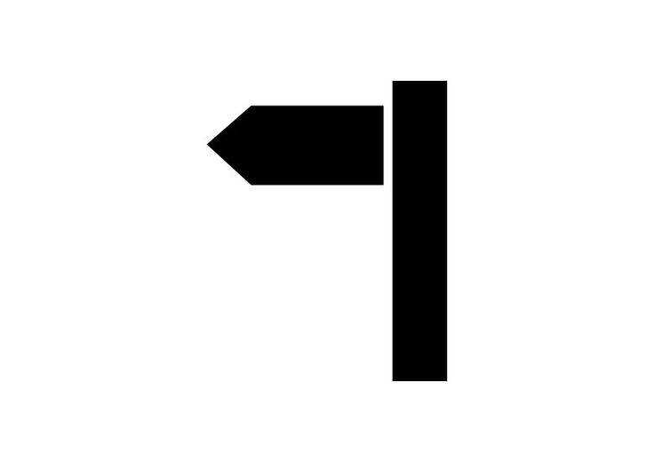 Direction Sign Simple Vector Icon