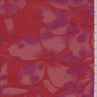 Red Floral Lawn 10% silk 90% cotton - lonsdale dress?