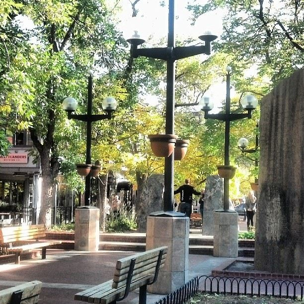 Colorado Convention Center With Lawrence Argent Sculpture: Pearl Street Mall, Boulder, Colorado