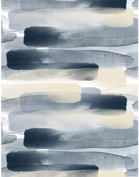 Overview The fluid and languid River print is reproduced on a wide width low gloss surface wallpaper. Layers of hand-painted watercolor flow across the paper, designed to bring restfulness to a room,