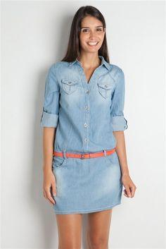 vestidos en jeans - Buscar con Google                                                                                                                                                                                 Más