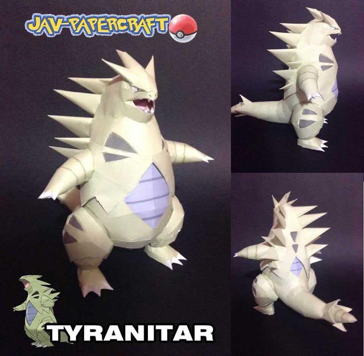 Pokemon - Tyranitar Ver.3 Free Papercraft Download - http://www.papercraftsquare.com/pokemon-tyranitar-ver-3-free-papercraft-download.html
