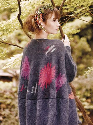 YAMANASHI from Rowan Knitting and Crochet Magazine No. 59 (ZM59). Rowan is promoting two stories this Spring/Summer - Coastal and Kyoto | English Yarns