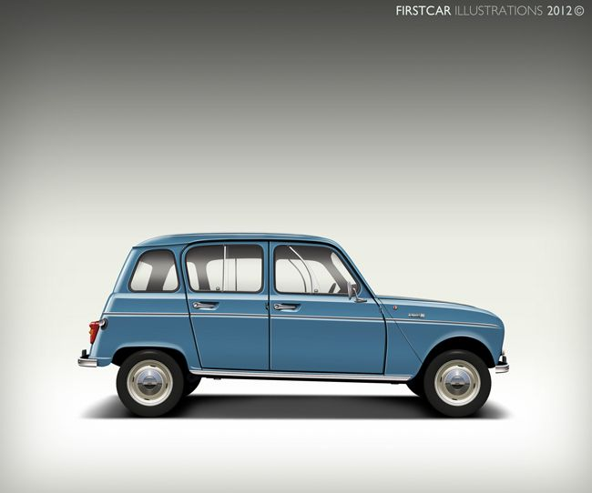 1966 - RENAULT 4L - firstcar illustrations