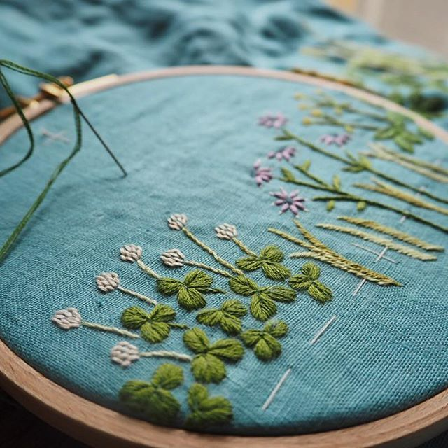 clover embroidery